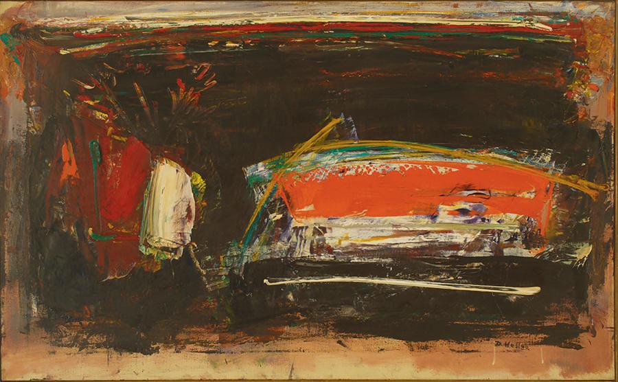 """Little Bouquet II,  Oil on Linen, 1958, 34"""" x 21"""""""