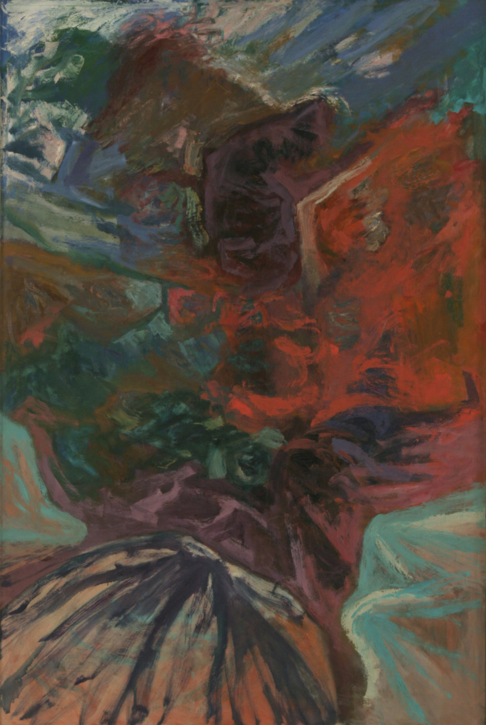 Red Rock , 72''x 48'', 1959