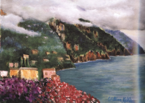 "Vista Casa d'Elissa Positano    24""x32"", Oil on canvas, 2004"