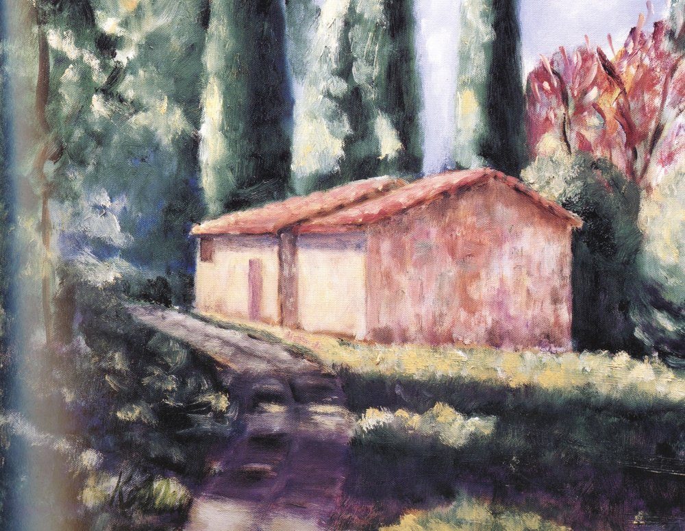 "La Casa Piccolo Giaole in Chianti     20""x24"", Oil on canvas, 2004"