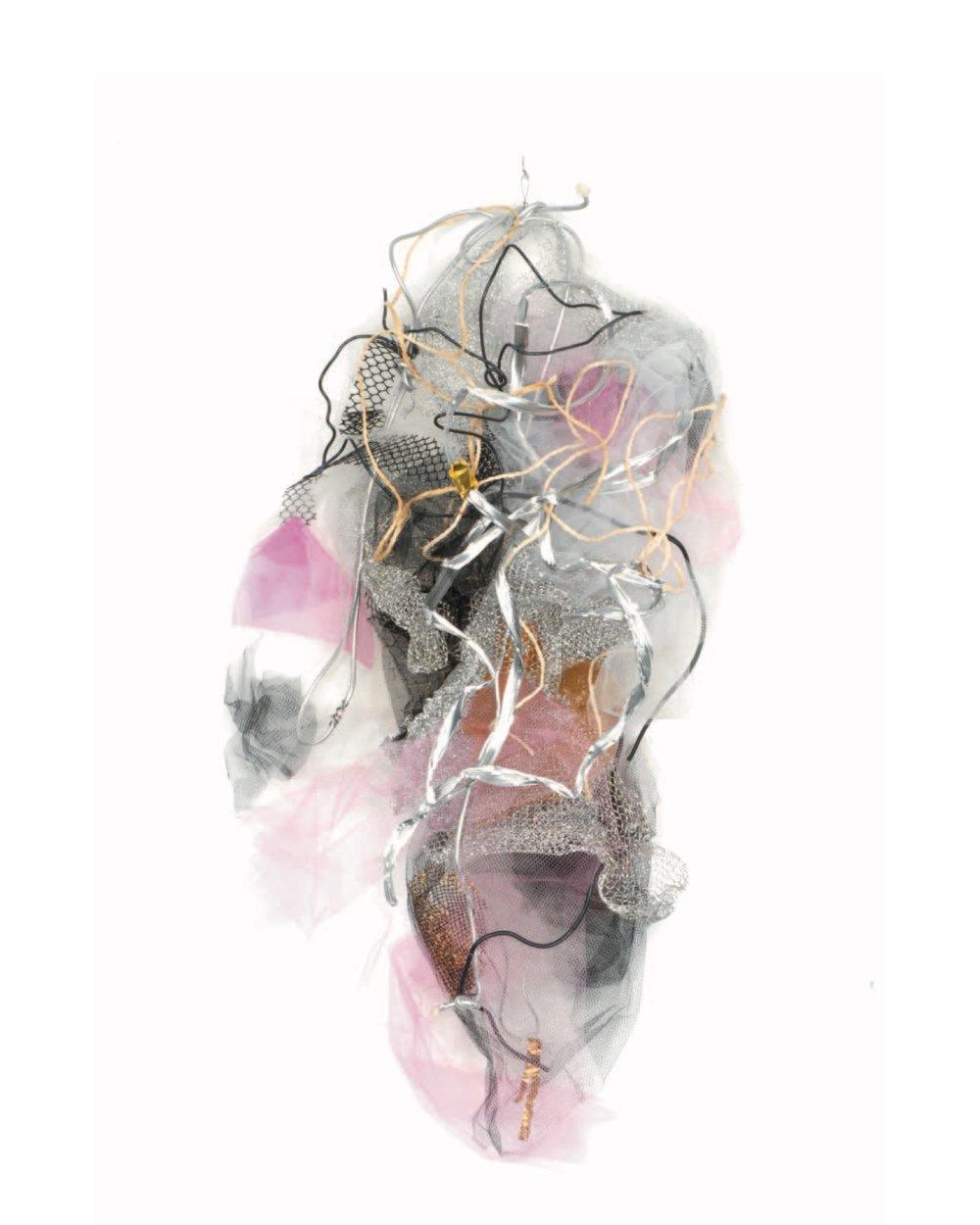 Renée Lerner    Sedonia  , mixed media on wire, 37' x 21' x 7', 2018
