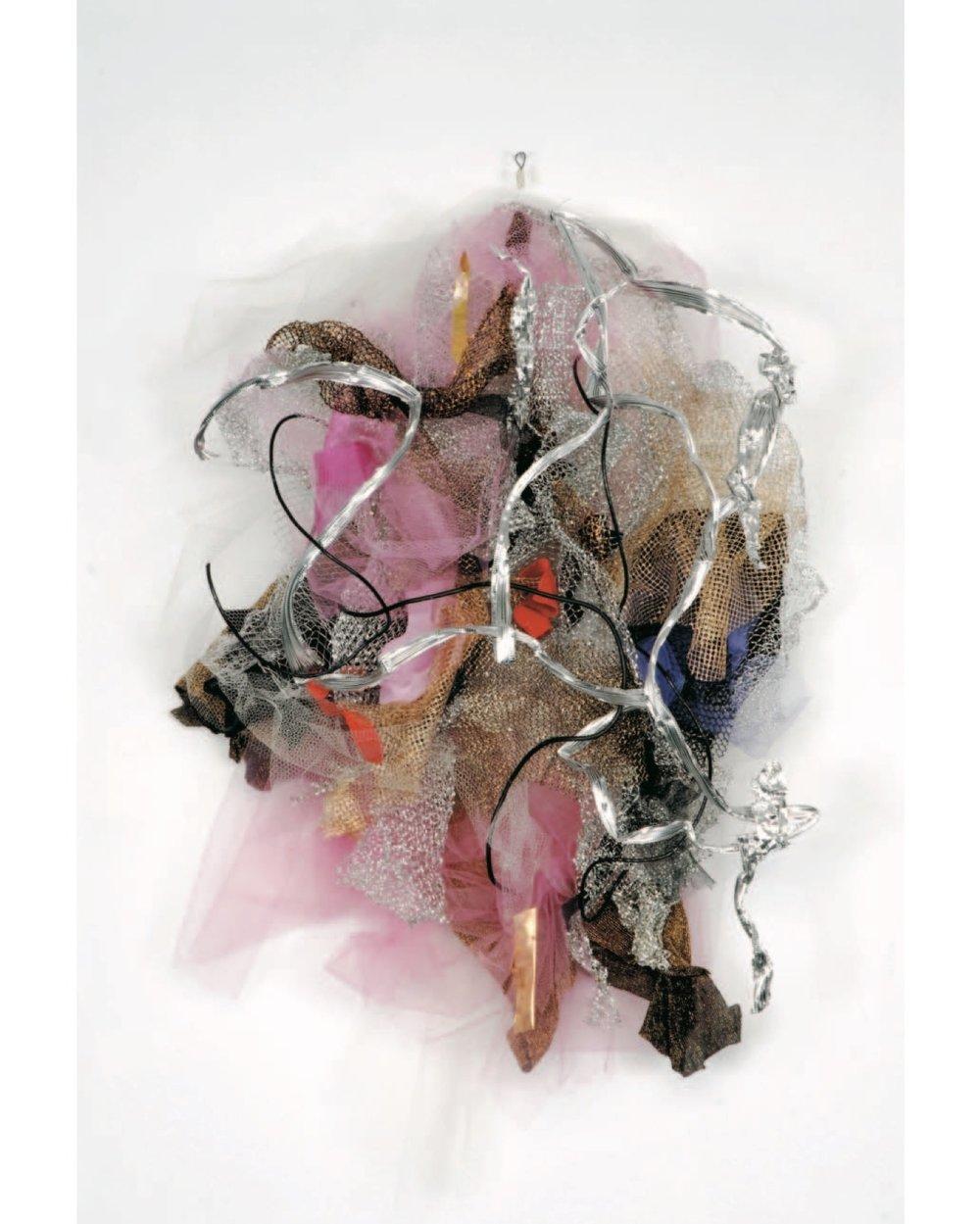 "Renée Lerner    Venus's Girdle  , mixed media on wire, 33""x19""x8"", 2009"