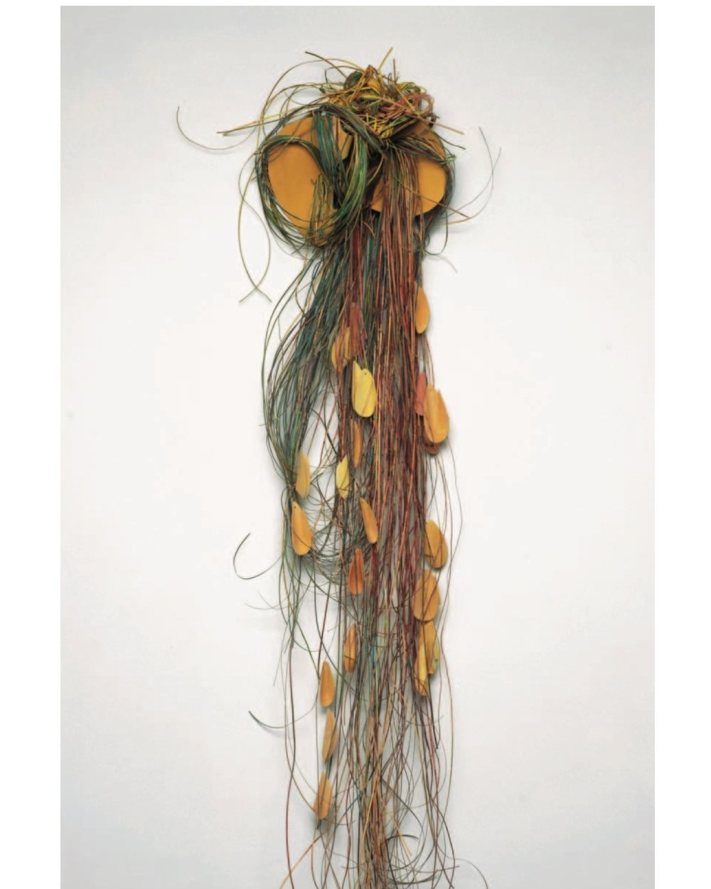 "Susan Manspelizer    Women Weep,     bent wood, paint and cane, 70""x15""x9"", 2007"