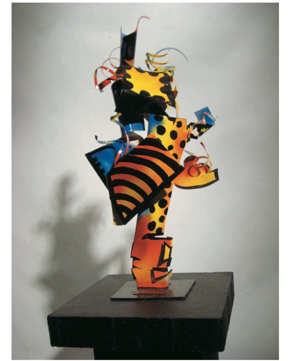 "Richard Pitts    Emit's Broom,   painted steel, 18"" x 10'' x 10'', 2008"
