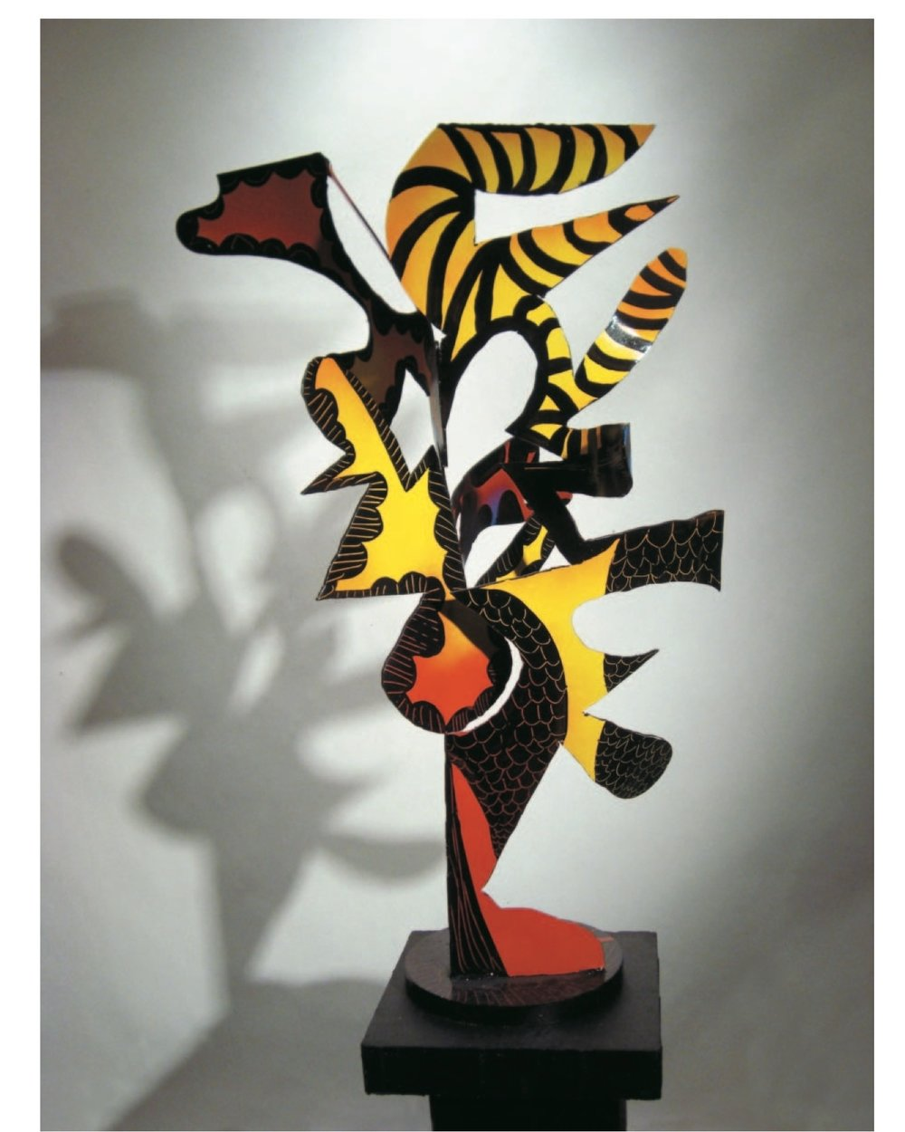 """Richard Pitts    Africa  , painted steel, 40""""x24""""x24"""", 2008"""