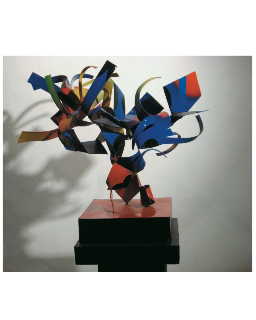 """Richard Pitts    Tumble Weed  , painted steel, 24""""x24""""x24"""", 2008"""