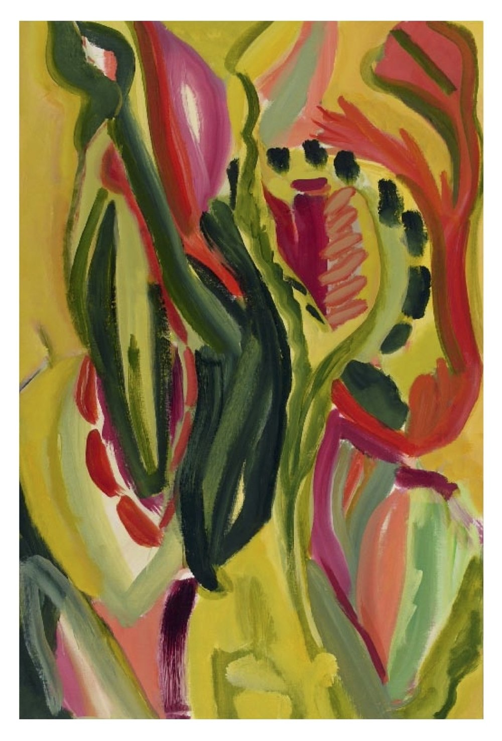 "Exotica   acrylic on canvas 36"" x 24"", 2008"