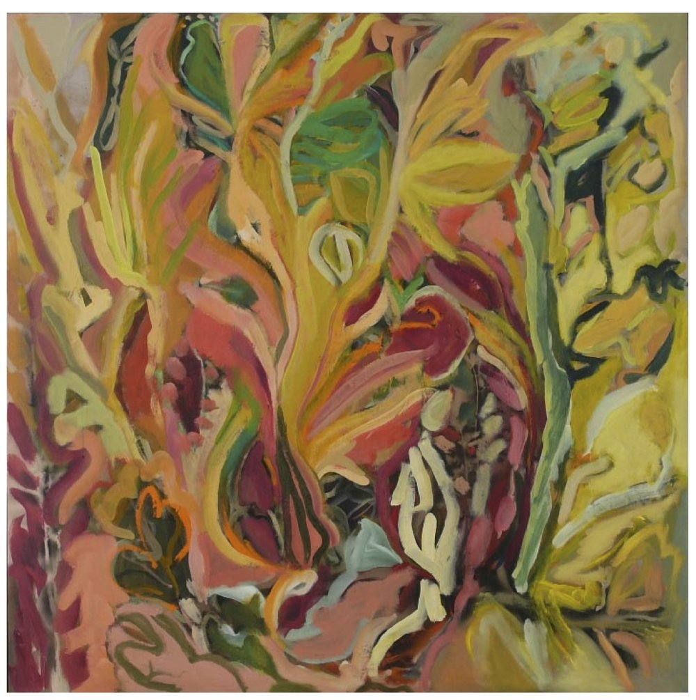 "Eden after the Fall   oil, acrylic, mixed media on canvas, 48"" x 48"", 2009"