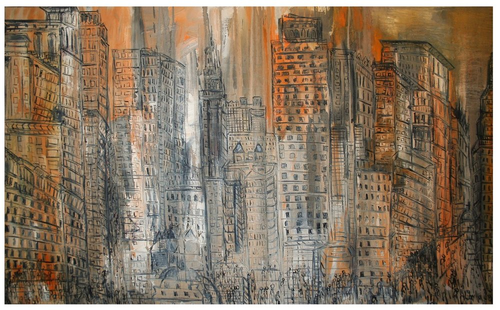 "New York, NY - Opus 6    oil on linen, 36"" x 60"", 2008"