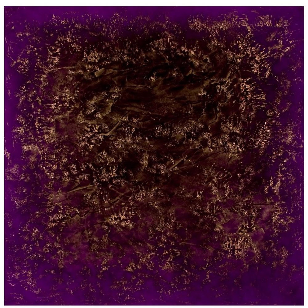 "Ron Clark    Stratum; Gold & Violet,   oil on canvas 36"" x 36"" 2008"