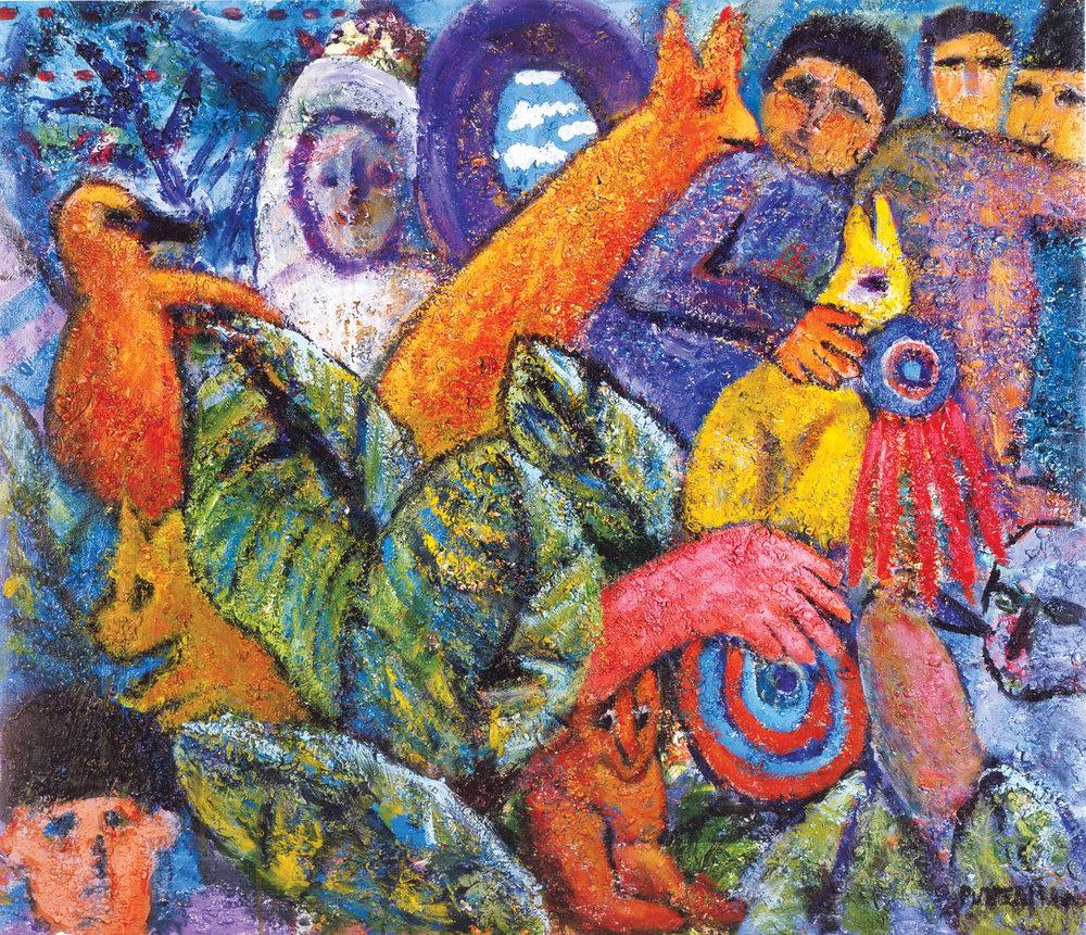 """Salient Parables VI,   2004, Acrylic, 40"""" x 46"""""""