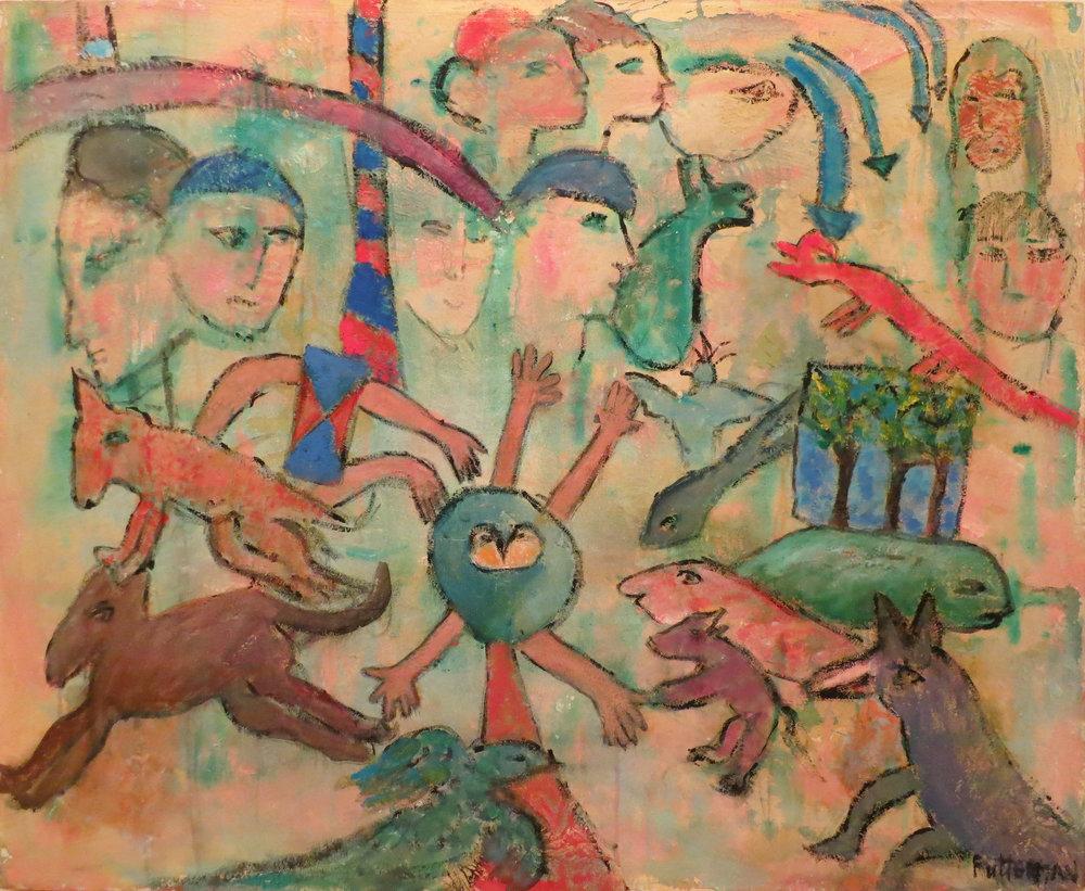 """Riddling Legend X  , 2004, Acrylic, 36"""" x 44"""""""