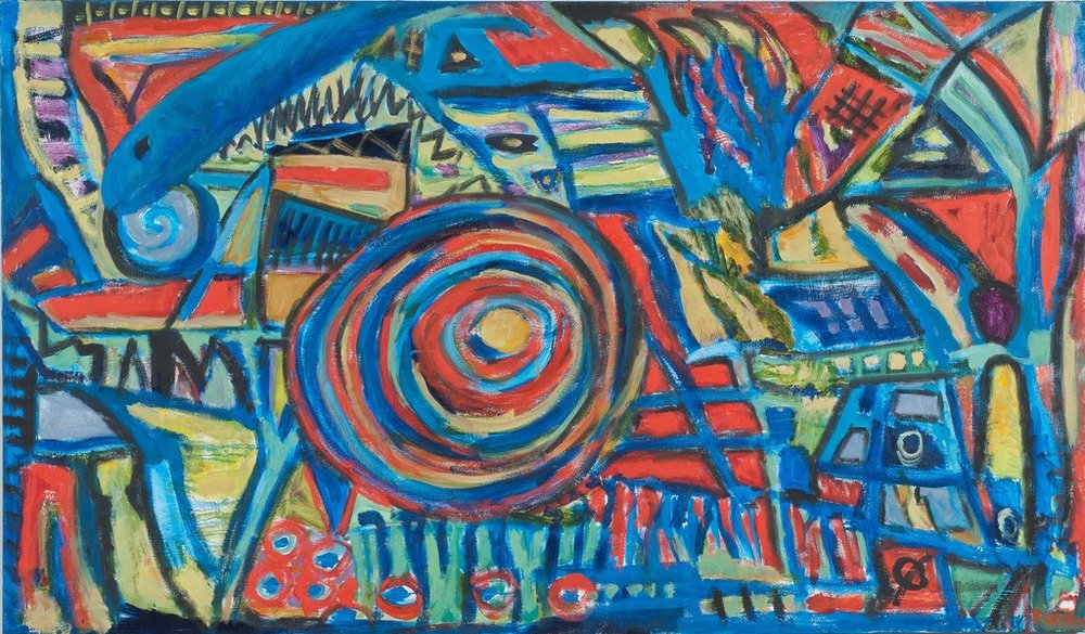 "Entwined Metaphors VI  , 2010, Oil on Canvas, 41"" × 70"""