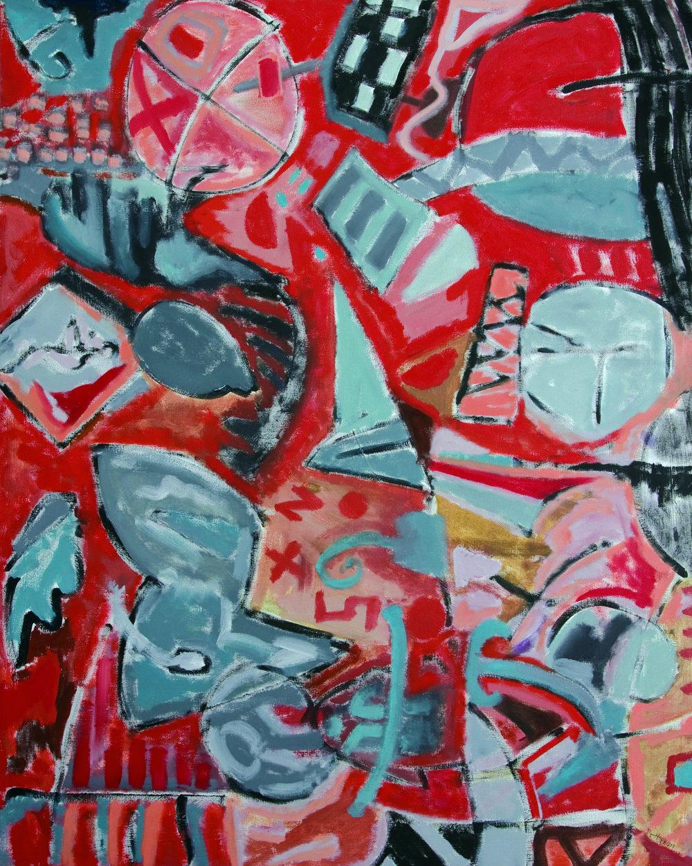 "Spirits + Essence II  , 2007, Oil on canvas, 60"" x 48"""