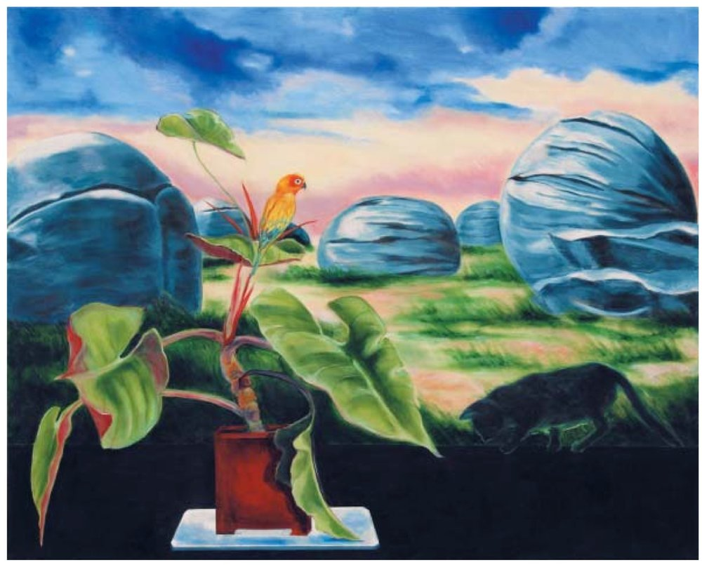 "Katherine Pappas-Parks    ""They are Said To Contain the Treasure of Age"" III,   Oil on canvas, 34"" x 42"", 2008"