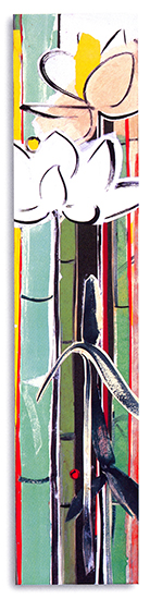 """Suite for the shallows I  , Paper collage on canvas, 24""""x5""""x3"""" (Each), 2007"""