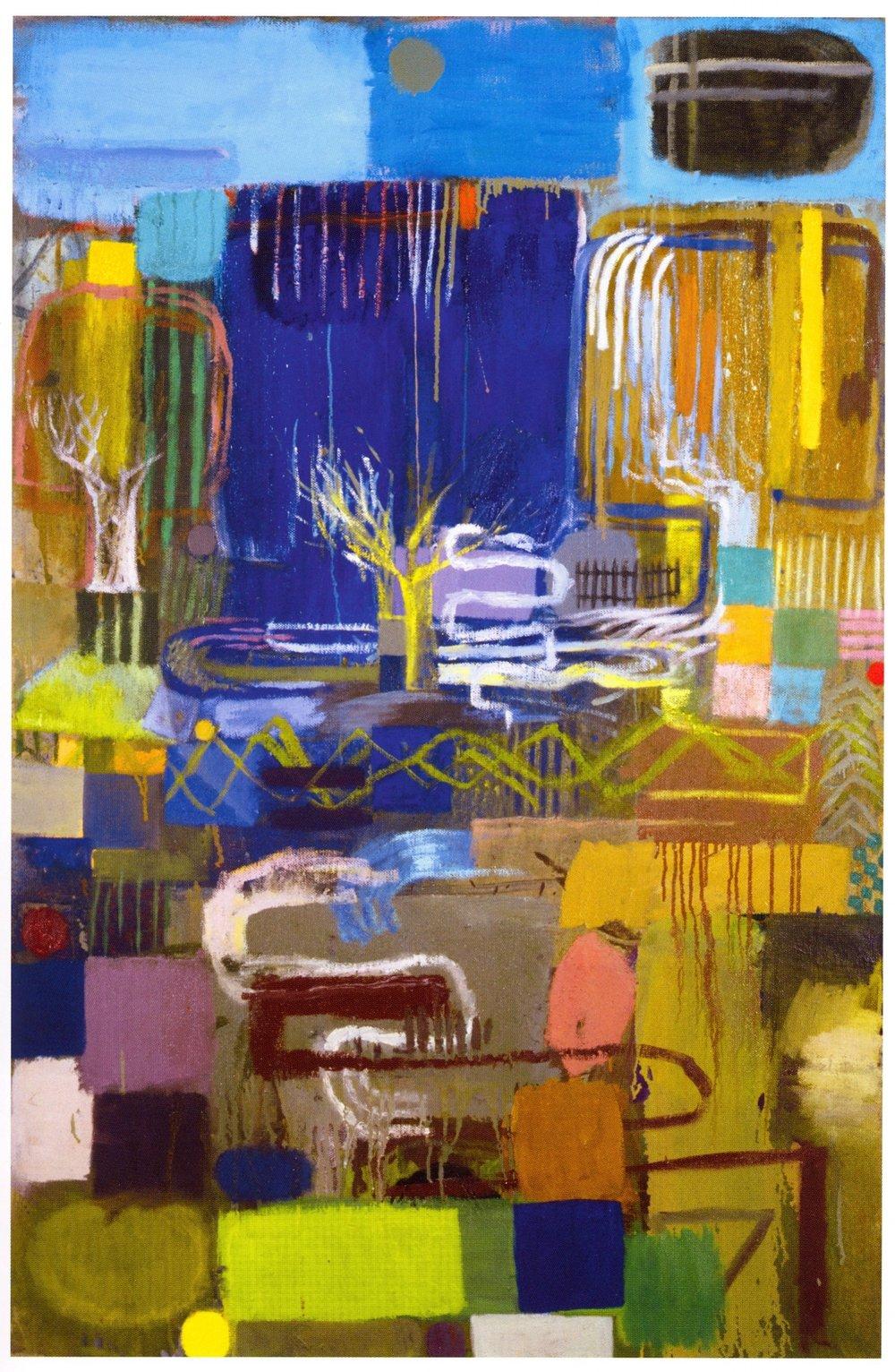 "Mark Kurdziel    Lost in Juarez,   Oil on canvas, 38"" x 58"", 2003"