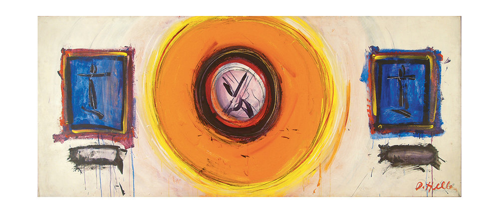 "The Great Mandala,  Acrylic on Linen, 1966, 101"" x 43"""