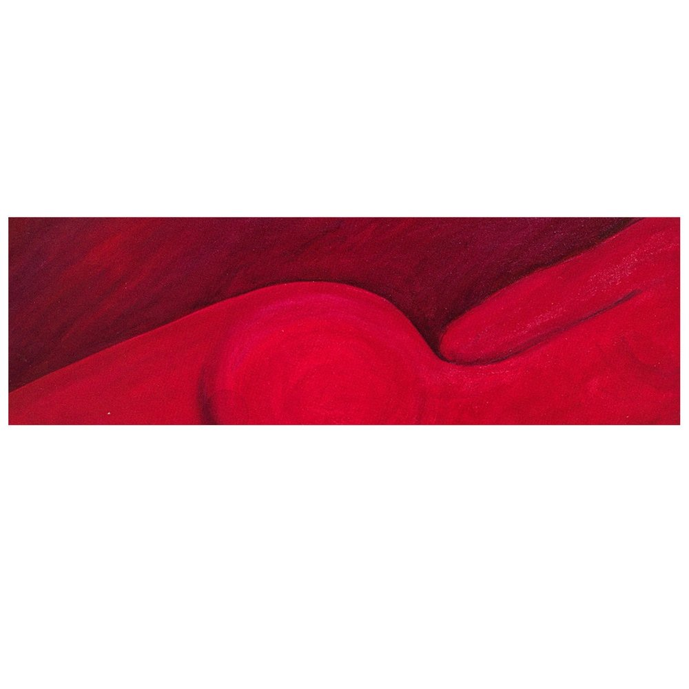 """Keith Webster    Bodyparts Series, Long Lean Red Machine  , oil on canvas, 31""""x60"""""""