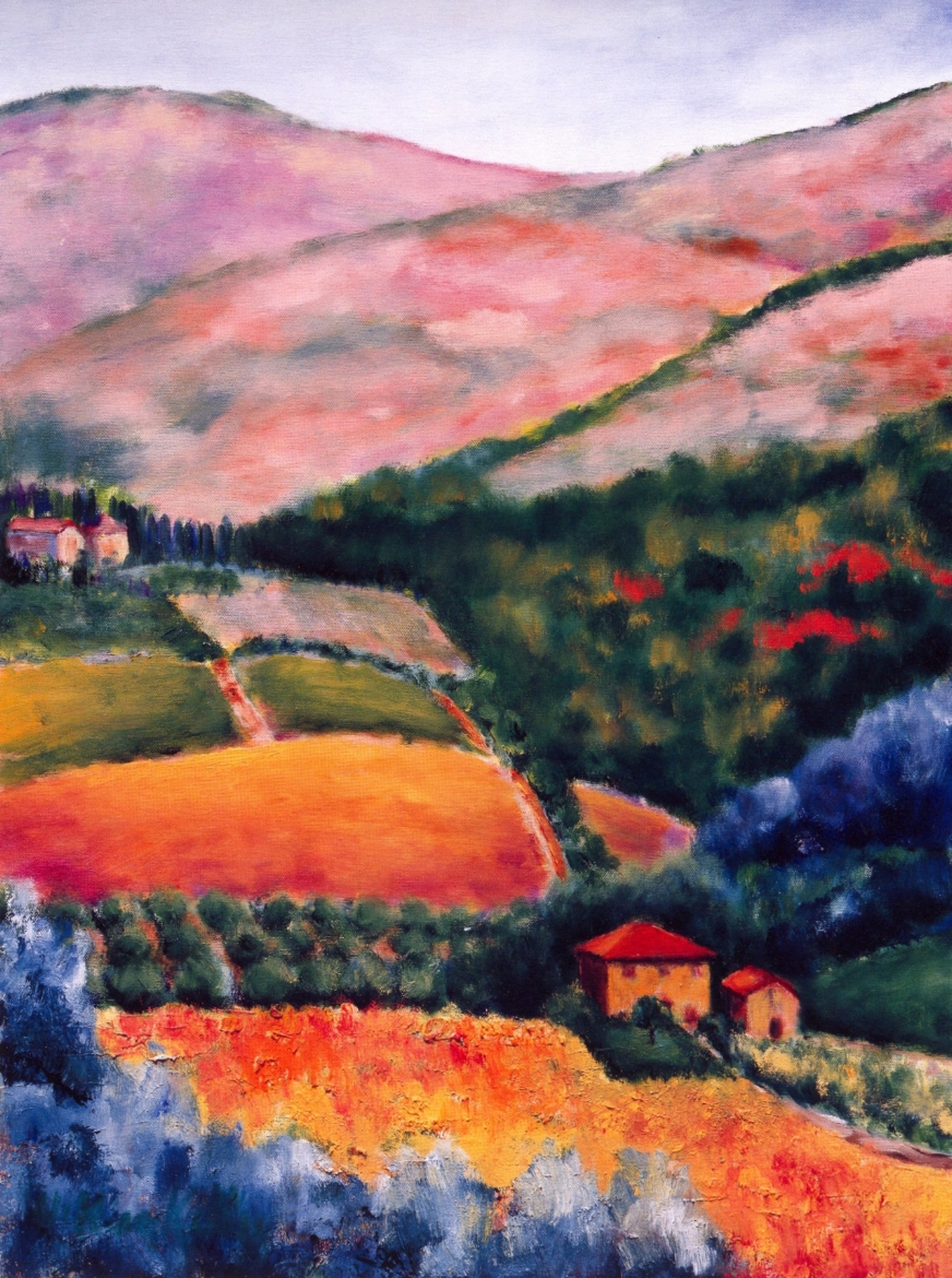 Villa Vignamaggio Chianti   Oil on canvas, 28'' x 36'', 2004