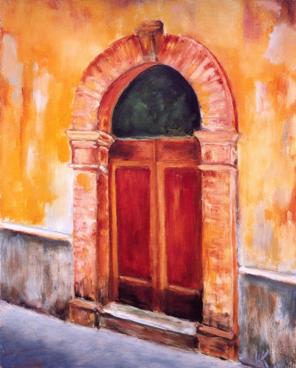 La Porta San Gimignano   Oil on canvas, 16'' x 20'', 2004