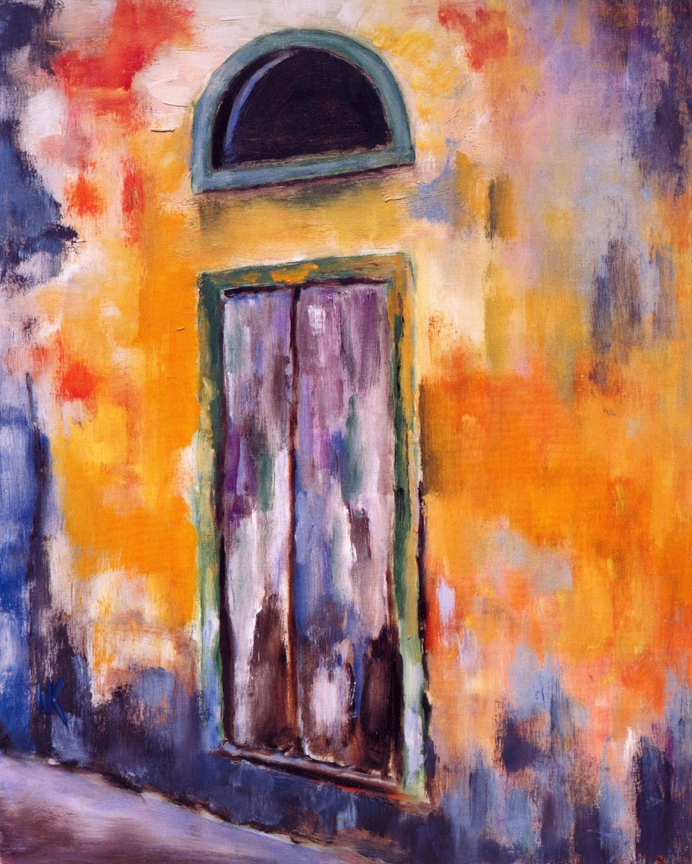 La Porta Radda In Chianti   Oil on canvas, 20'' x 24'', 2004