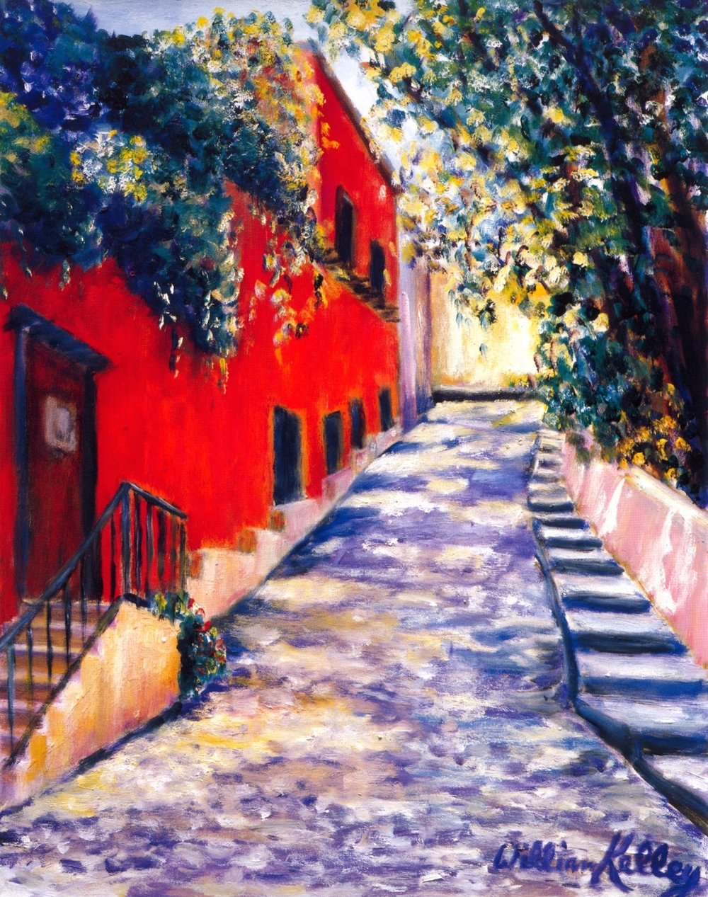Casa Liza San Miguel d'Allende   Oil on canvas, 20'' x 24'', 2003
