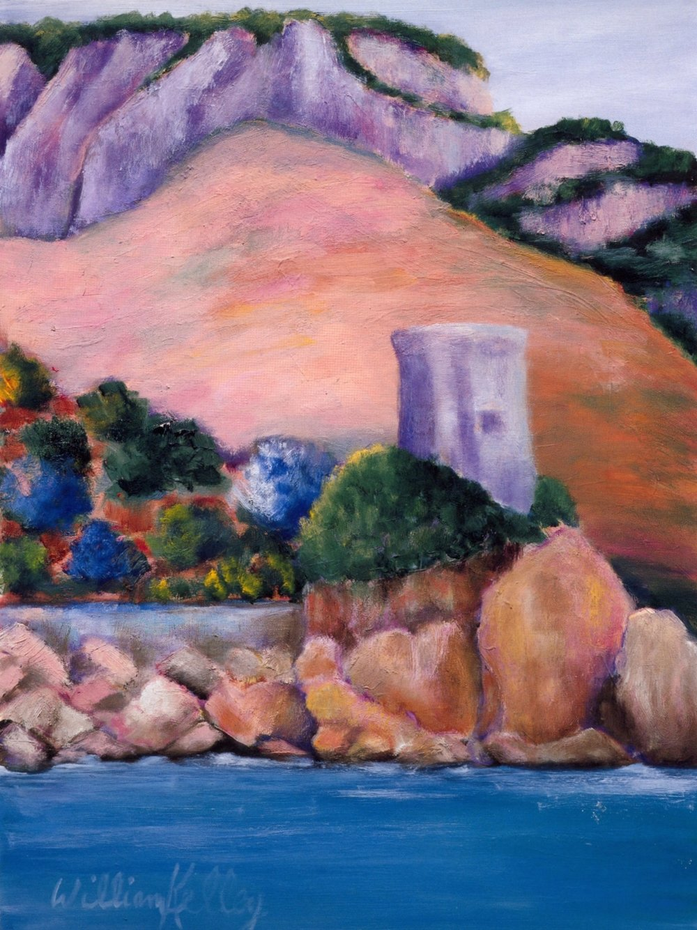 Il Torre, Amalfi   Oil on canvas, 24'' x 32'', 2004