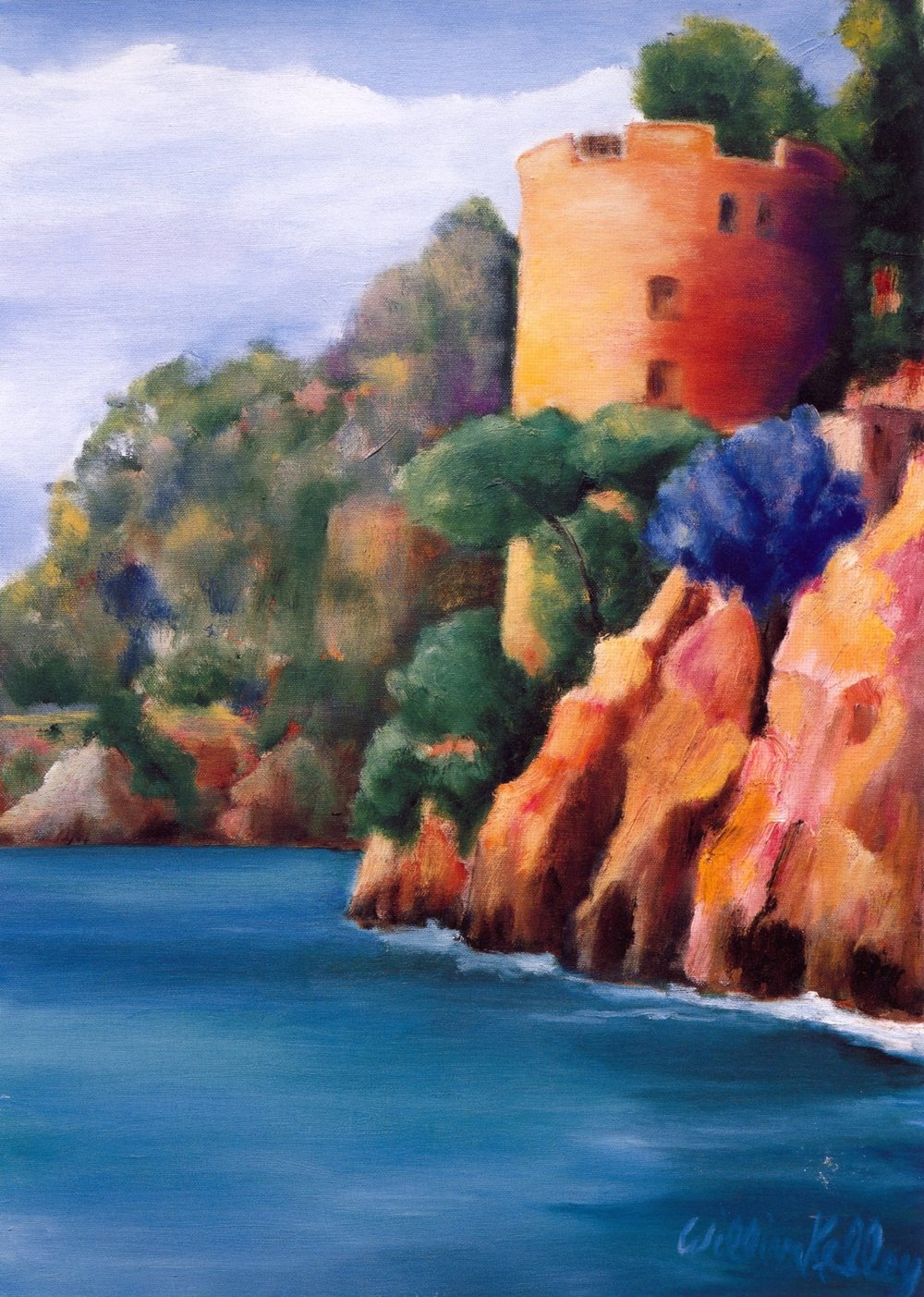 Il Castello, Positano   Oil on canvas, 24'' x 32'', 2004