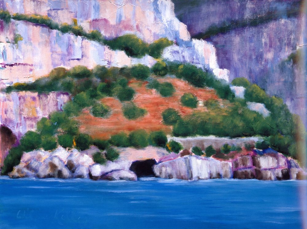 Il Grotto Emeraldo, Amalfi   Oil on canvas, 28'' x 36'', 2004