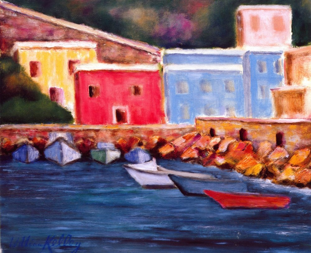 Porto Piccolo, Capri   Oil on canvas, 20'' x 24'', 2004