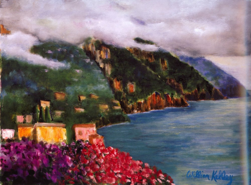 Vista Casa d'Elissa, Positano   Oil on canvas, 24'' x 32'', 2004