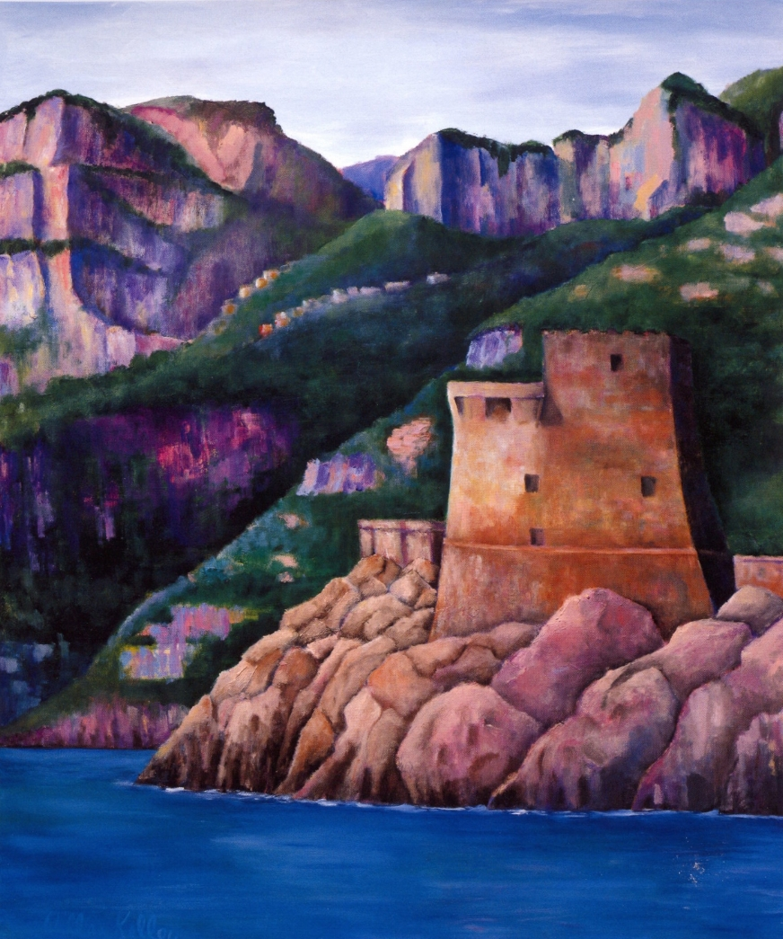 Il Castello, Amalfi   Oil on canvas, 60'' x 72'', 2004