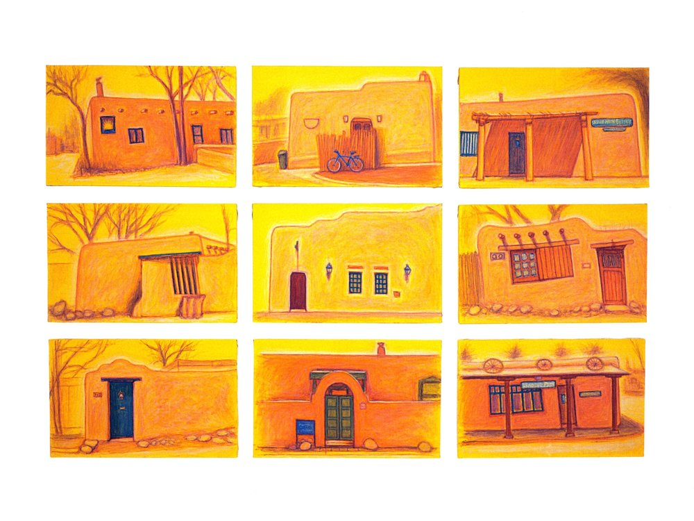 Adobe, Santa Fe - 1   Oil on canvas, 43'' x 66'', 2004