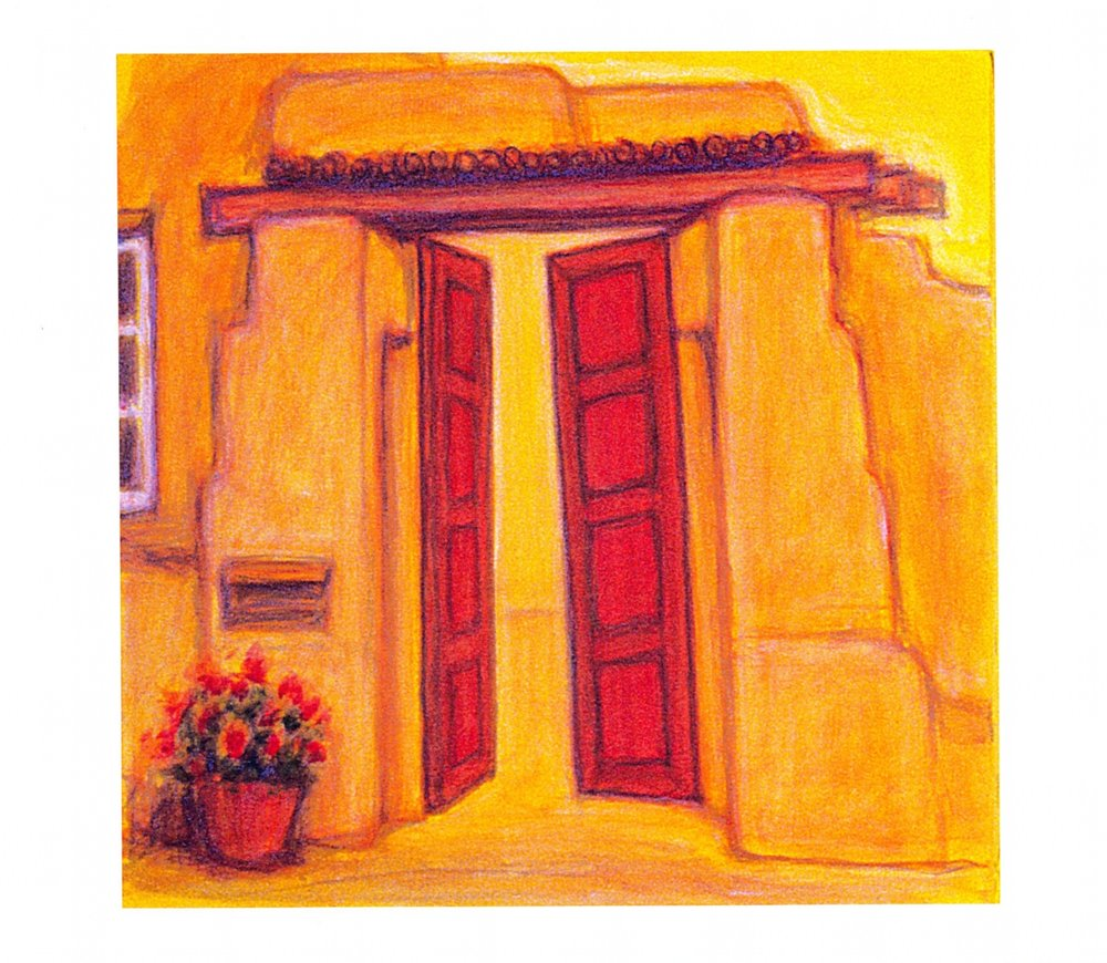 Detail of   Door and Window, Santa Fe - 1   Oil on canvas, 13 1/4'' x 13 1'4'' Each, 2004