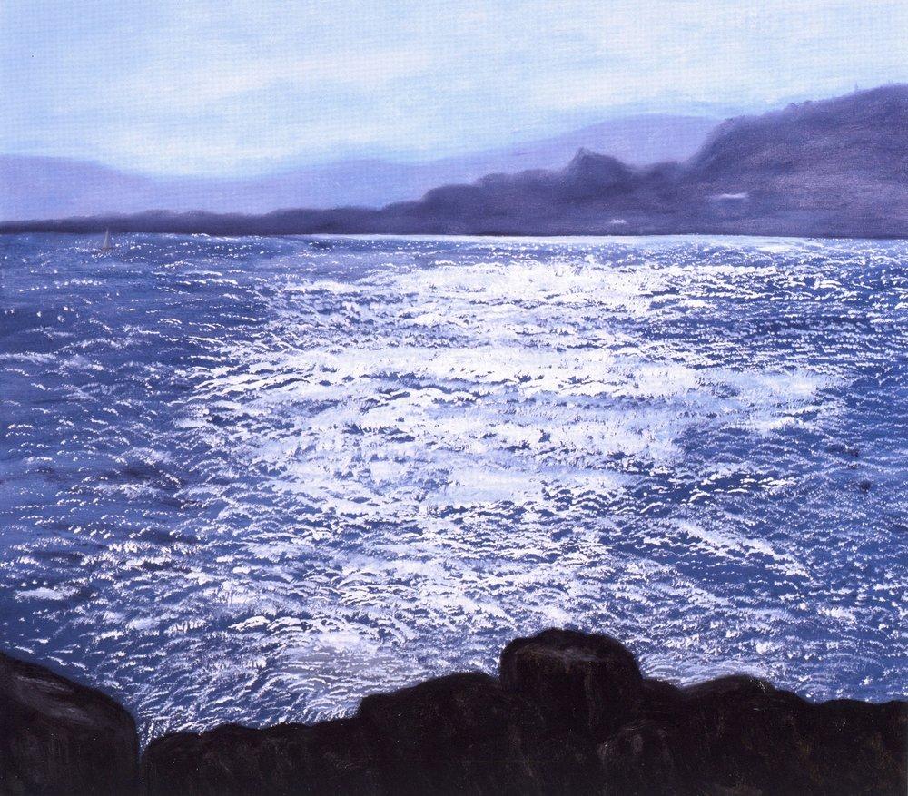 La Mer Brillante   Oil on canvas, 42'' x 48'', 2004