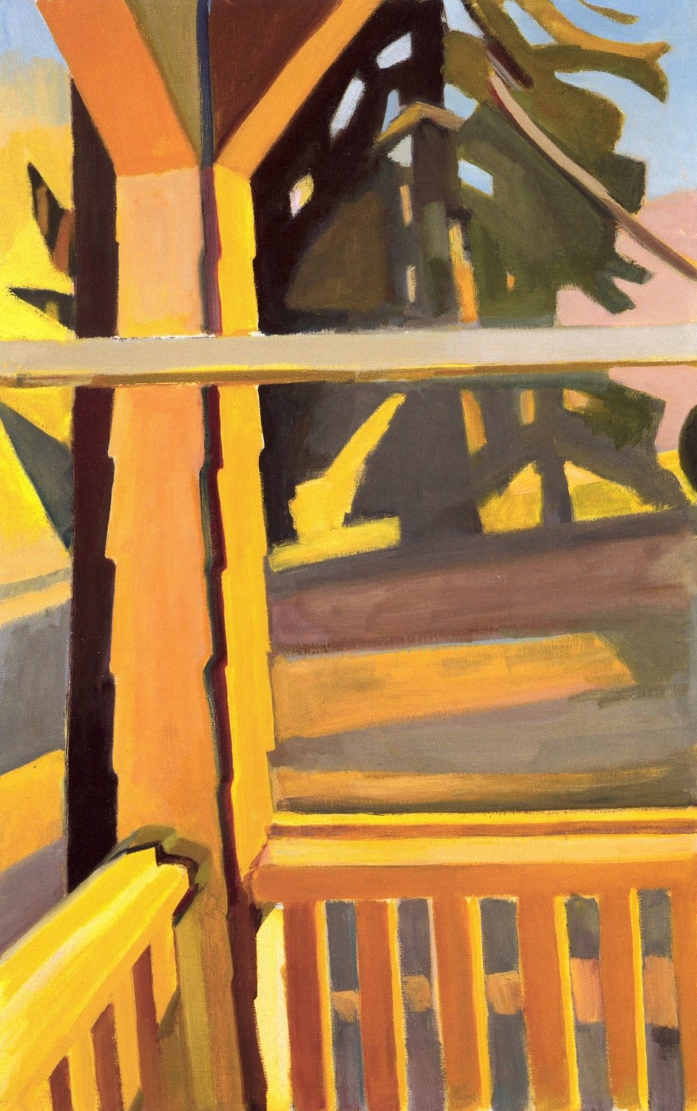 Martha Armstrong   Porch Post - Winter Sun  , Oil on canvas, 25'' x 40'', 2004