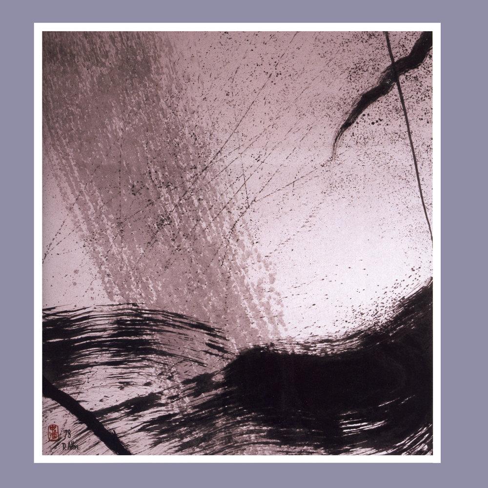 Wind, Rain & Ocean   Ink on rice paper, 35 1/2'' x 39'', 1978