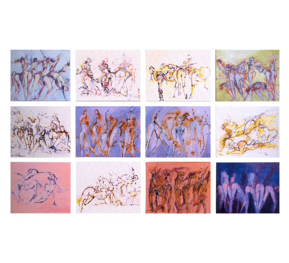 "Gary M. Welton  Barre Series Collection #1,  2003, Oil on Canvas, 16"" x 20"" Each"