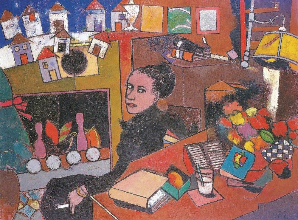 Maeve Brennan's Prayer (for Mary Hawthorne)   Oil on canvas, 54'' x 72'', 2000