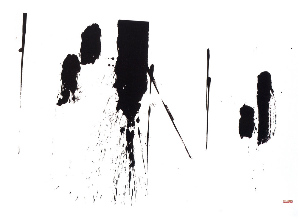 To Four II   Sumi on Paper, 37.8'' x 62'', 2003