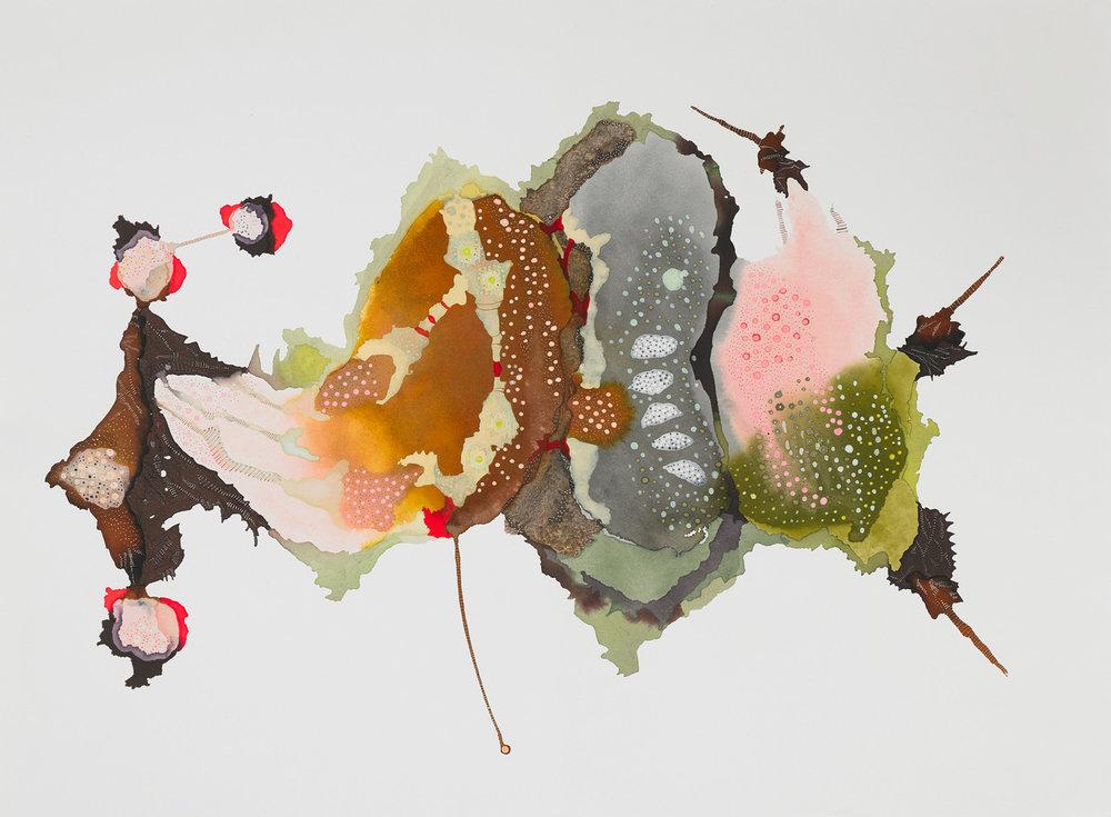 """Clara by Linda Lee Nicholas    Ink on Paper, 21"""" x 28"""", 2012"""