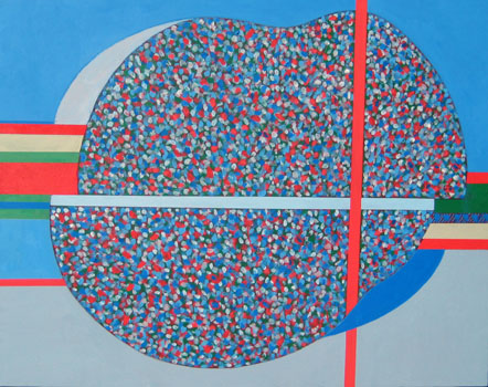 12_Yoko Mitsuyuki_The color of the Japanese festival II_36x46in_Oil on canvas_2010.jpeg