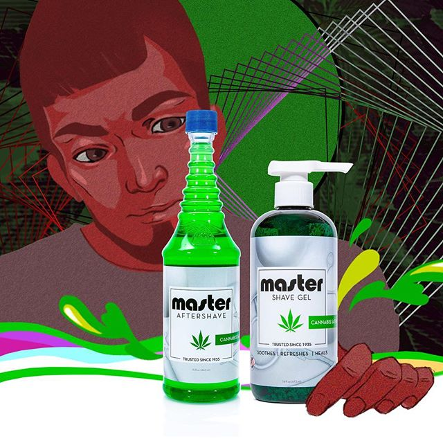 Cannabis goes great on the face. Skin-soothing CBD oil and witch hazel combined together to combat inflammation, redness, and deliver a crisp refreshing feel to the skin. ... #master1935 #cannabis #cbd #cannabisshavegel #cannabisaftershave #barberchoice #barberlove #barbershop #mensgrooming #masteraftershave #mastershavegel #witchhazel #shavegel #aftershave #shave