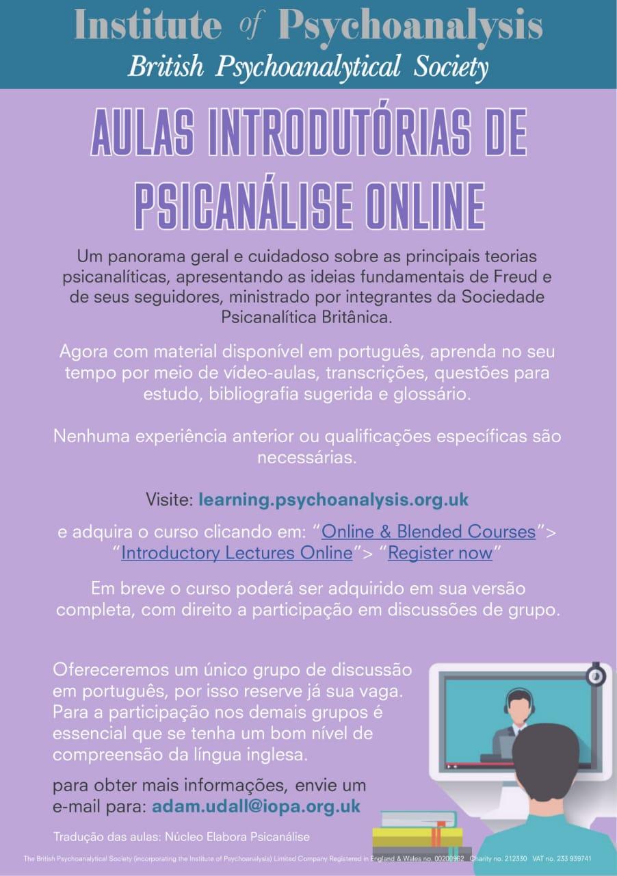 Curso de psicanálise online
