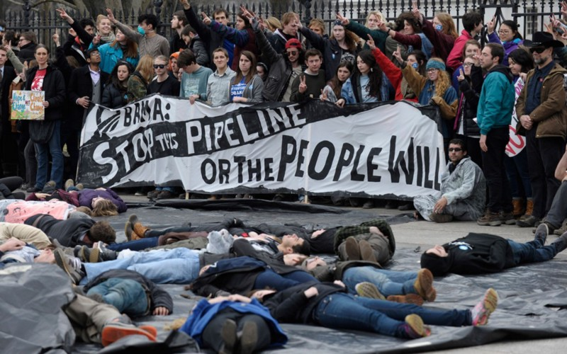 Keystone XL Protest (Photo from Al Jazeera)