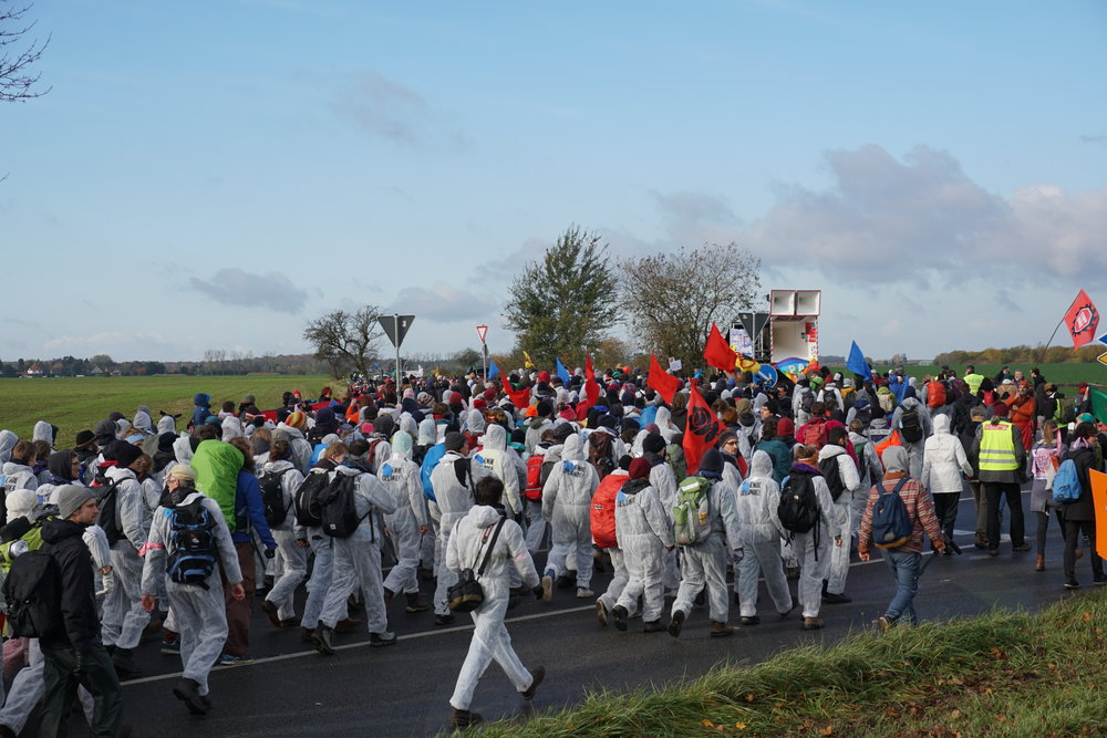 Thousands of activists march to the last coal mine in Germany before occupying it and shutting down operations for a full day.