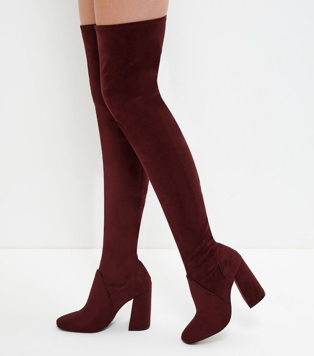 1.  Burgundy Boots   Burgundy to me is the color of fall, so a boot is the perfect way to showcase this rich color. I love an over the knee version, but any burgundy boot will do. I'm loving  this one , and  this one , and  these.