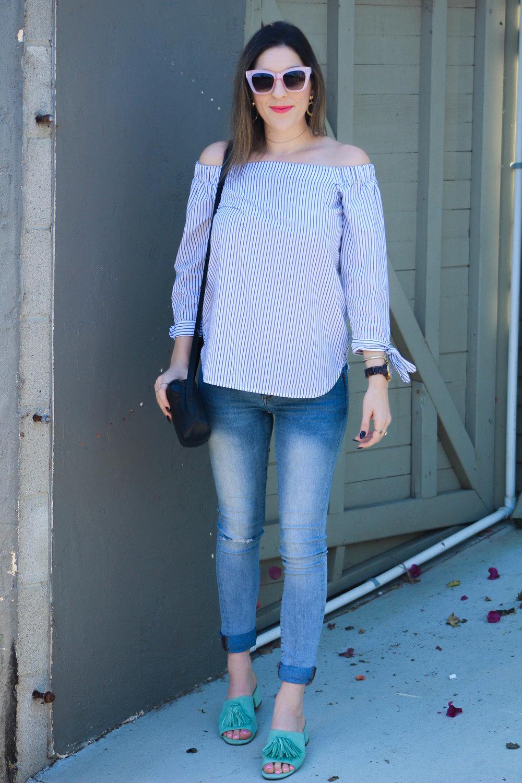 Top: similar   here   // Jeans:   Banana Republic   // Shoes:   Anne Klein   // Purse:   J.Crew   // Sunglasses:   3.1 Phillip Lim