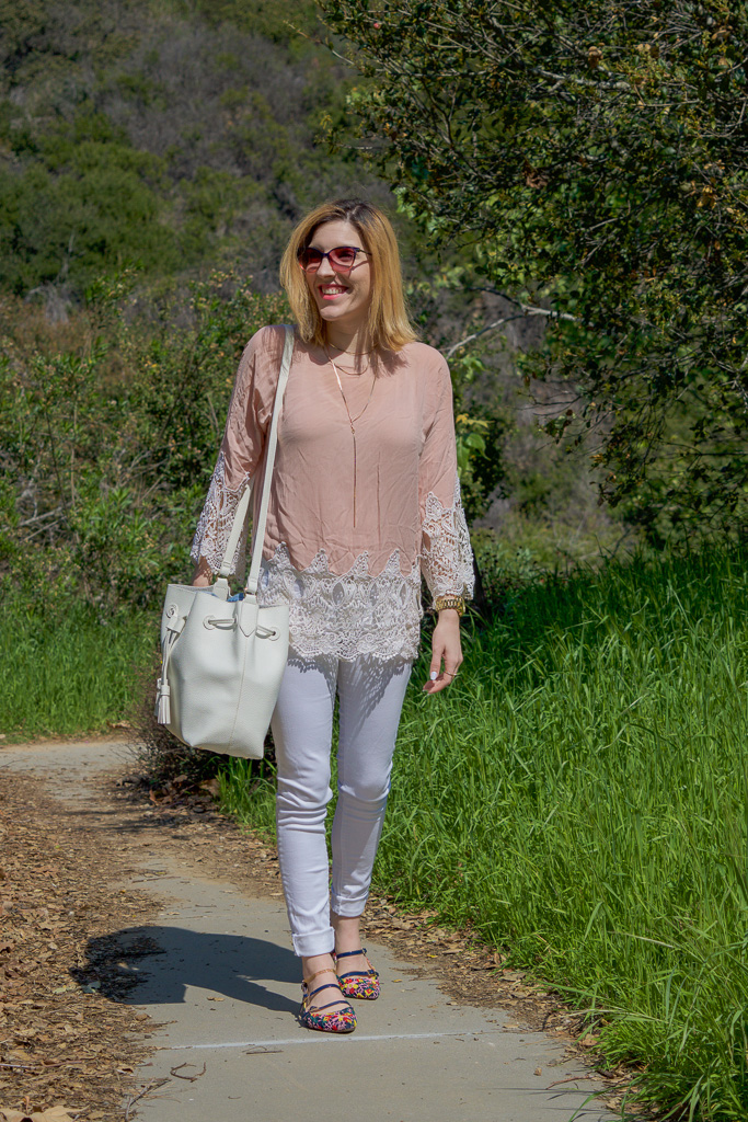 Top:   Karen Zambos Vintage Couture  //  Jeans:   Flying Monkey  //  Flats:   similar   here  //  Sunnies:   Marc Jacobs  //  Bag:   F21